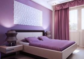 Dekorasyonda Mor Yatak Odaları