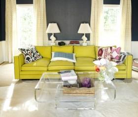 Oturma Odasında Hardal Renk Dekorasyonu