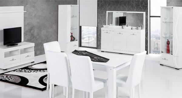 Beyaz Yemek Odası Dekorasyon Fikirleri