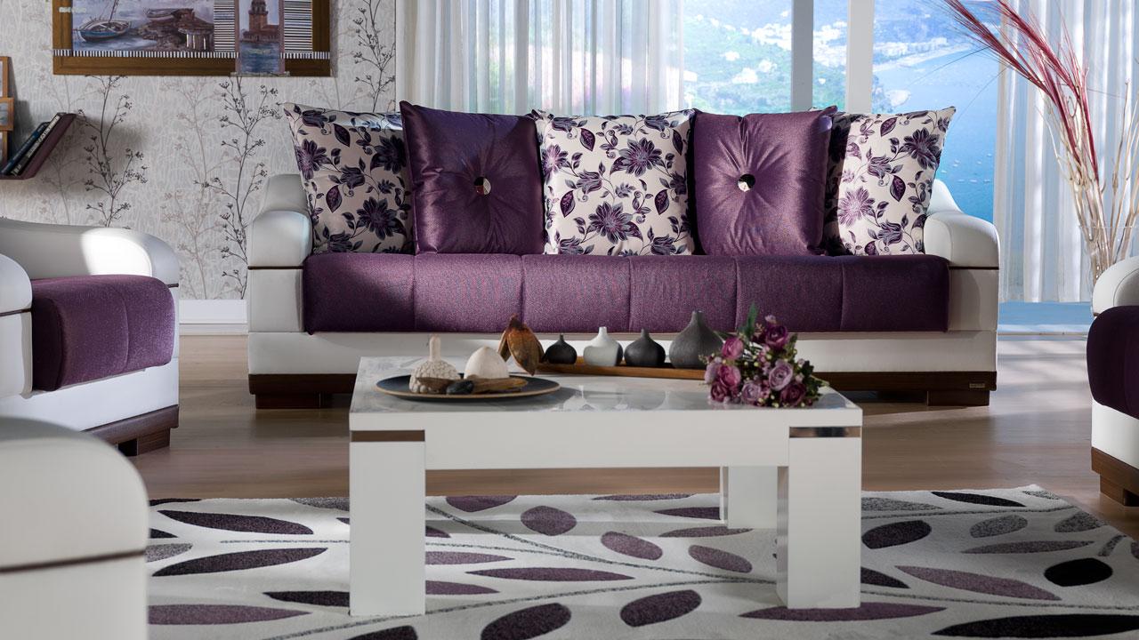 Modern mor renkli banyo dekorasyonu ev dekorasyonu dizayn - Salon Ya Da Oturma Odas Nda Mor Renk Nas L Kullan L R Yazar Dekor