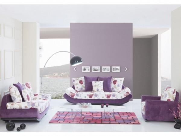 Salon Ya da Oturma Odasında Mor Renk Nasıl Kullanılır?
