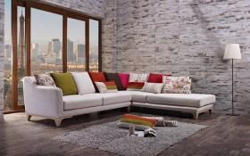 Oturma Odaları İçin L Koltuk Dekorasyonu