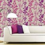 Çiçek Desenli Duvar Dekorasyonu
