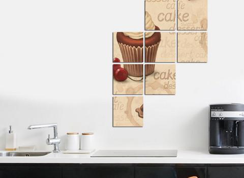 Mutfaklarınızı Cupcake Tablolar ile Renklendirin