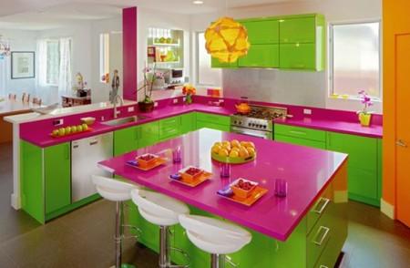 Mutfakta Renkli Tasarımlar