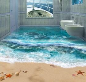 Banyo İçin 3 D Özellikli Fayans Modelleri