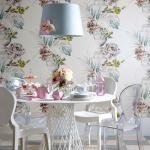 Çiçek Desenli Duvar Kağıdı Modelleri