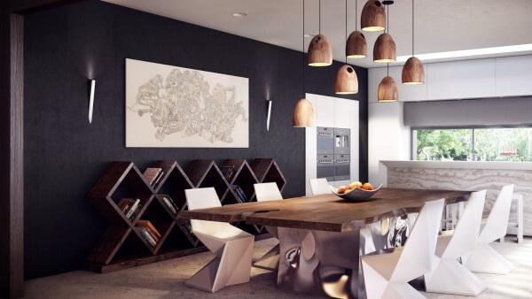 Mutfak dekorasyonları İçin Yemek Masası Modelleri