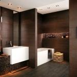 Koyu Renk Banyo Dekorasyonu