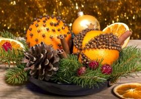 Portakal Topları İle Yılbaşı Dekorasyonu