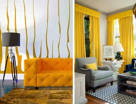 Dekorasyonda Hardal Sarısı ve Gri Birlikteliği