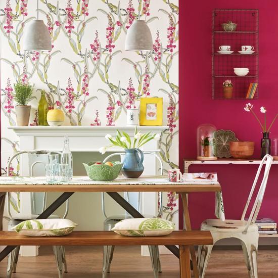 Çiçekli Yemek Odası Duvarı