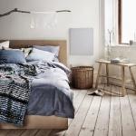 Gri ve Kahve Yatak Odası