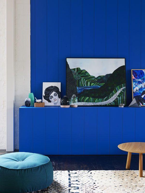 Mavi Duvar Dekorasyon