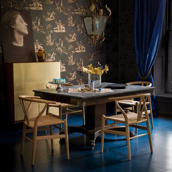 Yemek Odası Modern Desenli Duvar