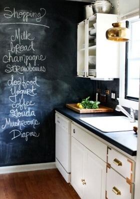 Kara Tahta İle Mutfak Dekorasyonu
