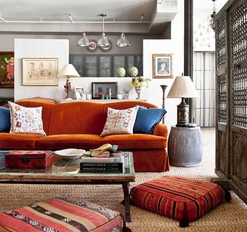 Rustik Salon Dekorasyonu