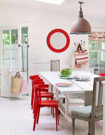 Yemek Odası Kırmızı Sandalye