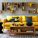 Dekorasyonda Sarı Gri