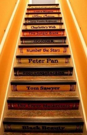 Dekorasyonda Yeni Moda: Kitapsever Merdivenler