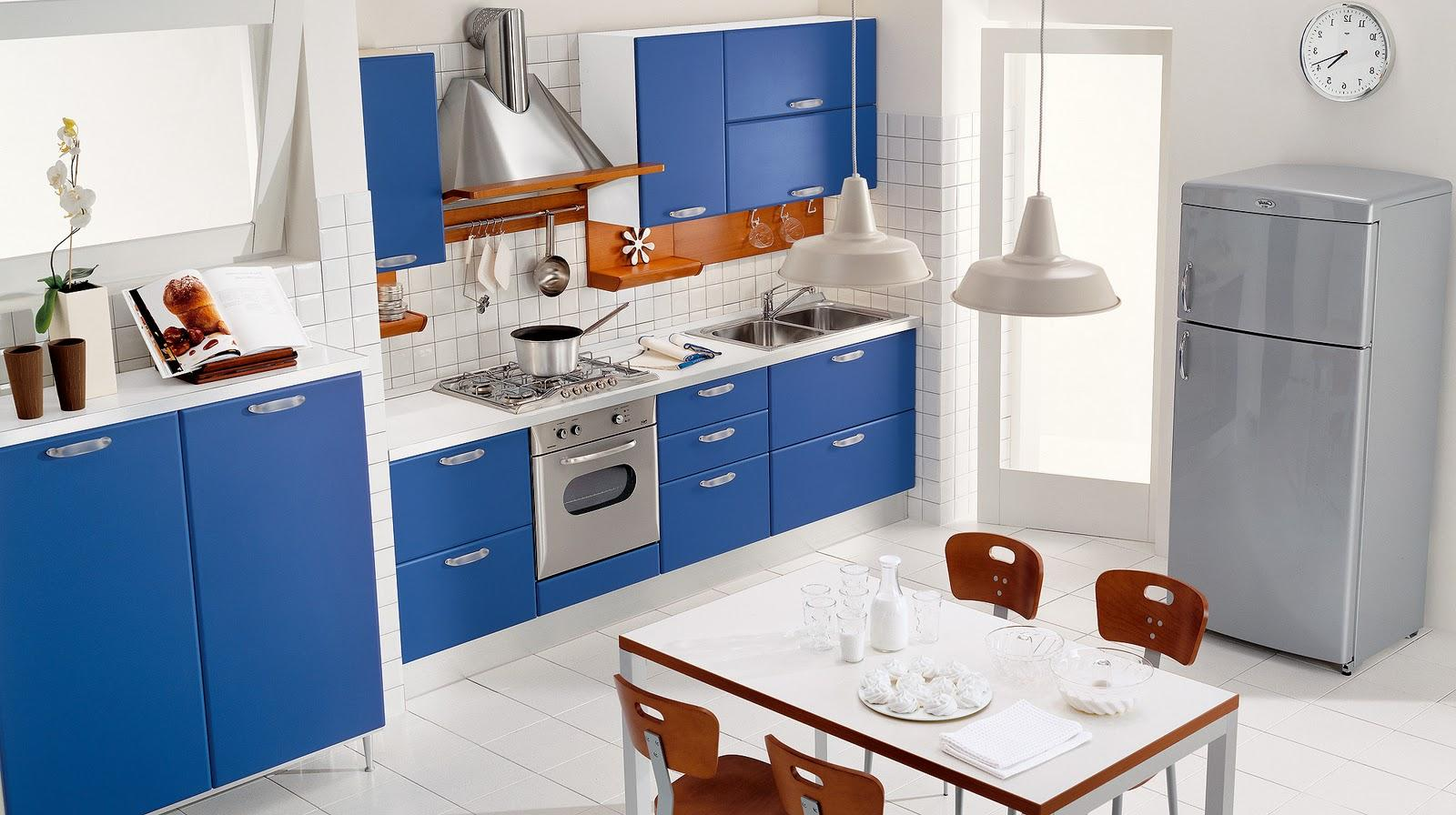 Mavi Mutfak Dekoru