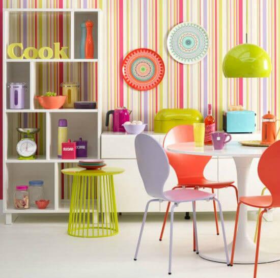 Neon Renk Mutfak Dekorasyonu