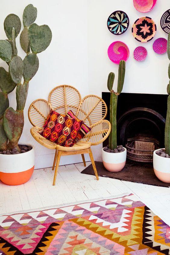 Ev Dekorasyonunda Desen Modası: Kaktüs Desenli Evler