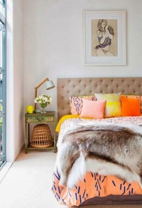 İlkbaharda Yatak Odası Dekorasyonu Fikirleri