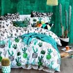 Kaktüs Desenli Yatak Odası