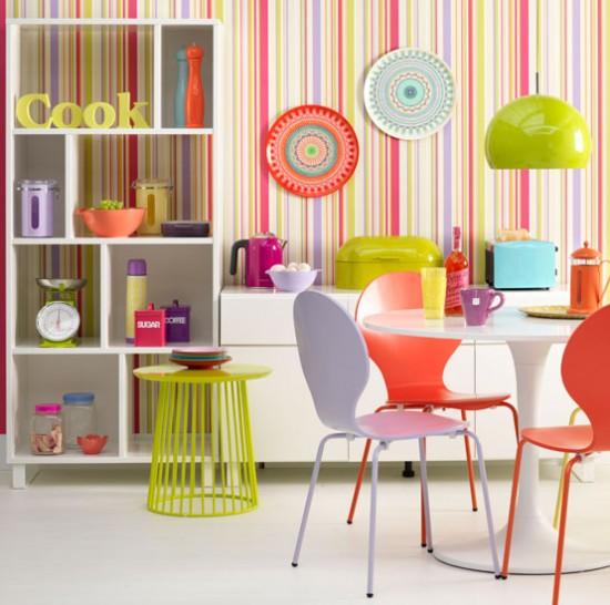 Renkli Mutfak Masa Sandalyeleri