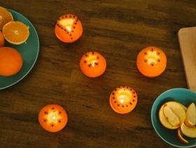 Kendin Yap Fikirleri: Portakal Kabuğu İle Mum Yapımı