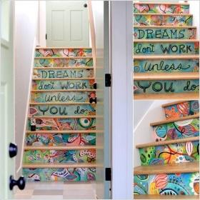 Kendin-Yap: Merdiven Dekorasyonunda Renk Oyunları