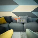 Oturma Odası Geometrik Tarz Boyama