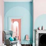 Pembe Mavi Salon Duvar Rengi