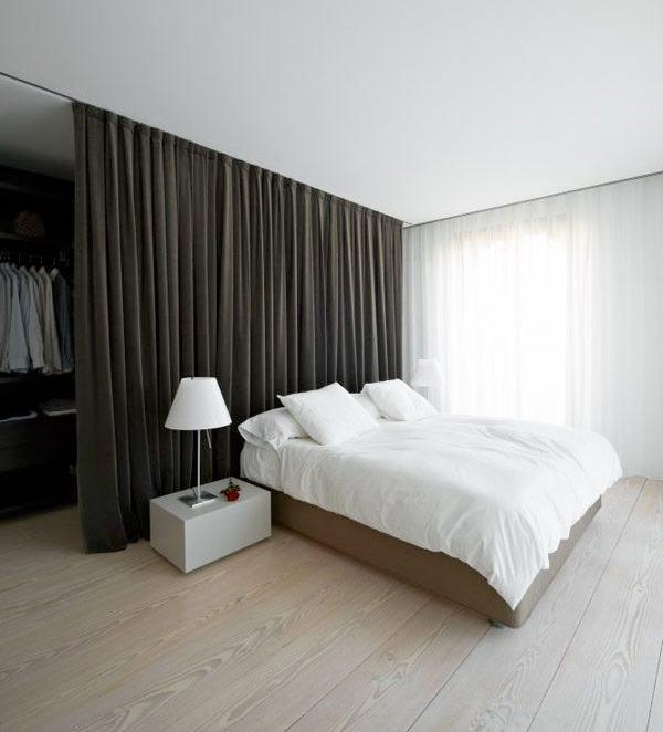Perde İle Yatak Odasını Bölme
