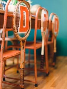 Tenis Raketleriyle Dekorasyon
