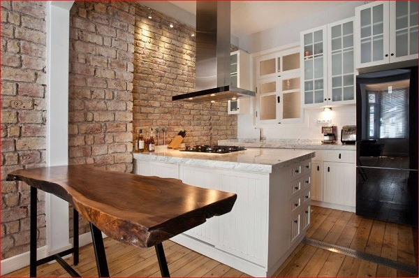 Doğal Taş Mutfak Dekorasyonu