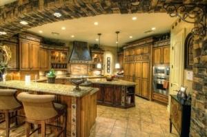 Doğal Taşlı Mutfak Dekorasyonu