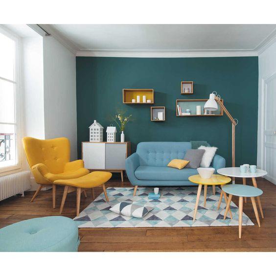 Hardal Sarısı Oturma Odası
