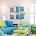 Mavi Yeşil Dekorasyon