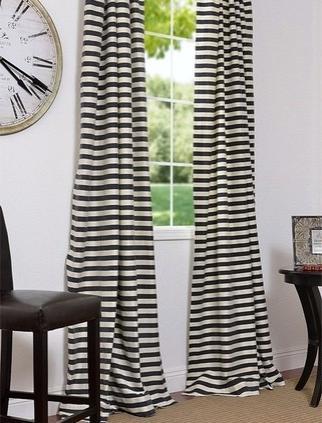 Siyah Beyaz Zebra Desenli Perde