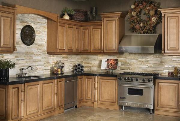 Taş Kaplama Duvarlı Mutfak Modelleri