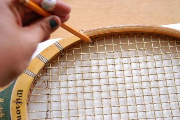 Tenis Raketinden Mantar Pano Yapmak