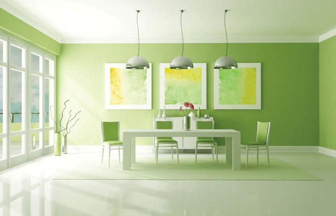 Limon Yeşili Ev Dekorasyonu