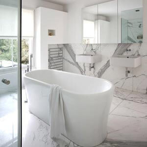 Bembeyaz Banyo Dekorasyonu