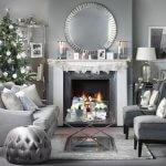 Gümüş Renkte Oturma Odası