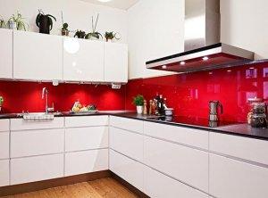 Kırmızı Beyaz Mutfak