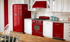 Modern ve Renkli Mutfaklar: Kırmızı ve Beyaz