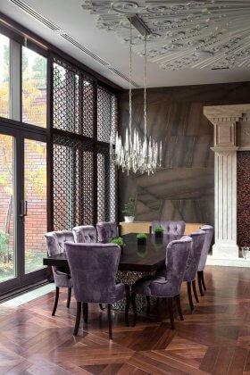 Yemek Odasında Asalet ve Şıklık: Mor Renginde Yemek Odaları