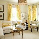 Sarı Renkli Oturma Odaları